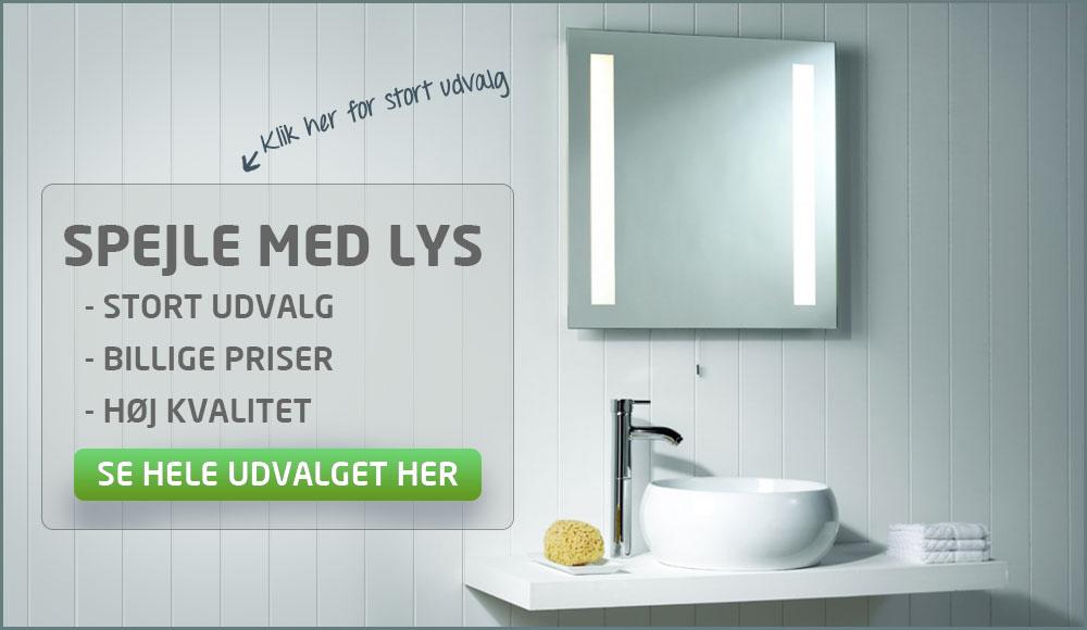 badeværelsesspejle med lys